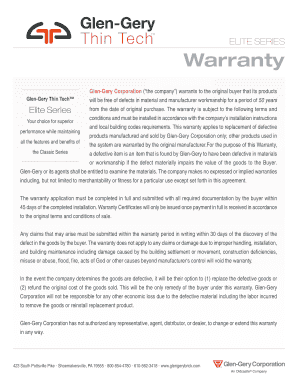 Fillable Online Warranty - United Wall Systems Fax Email