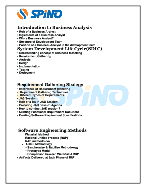 Role Of A Business Analyst Fill Online Printable Fillable Blank