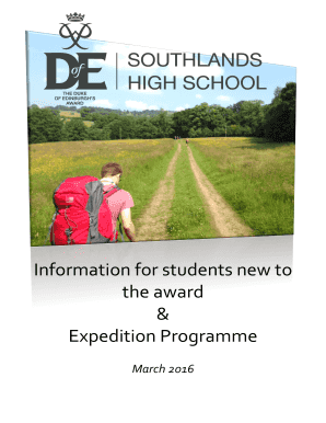 Information for students new to - southlands lancs sch