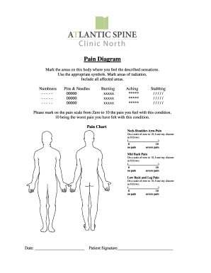 Fillable pain diagram body templates to create in pdf online pain diagram atlantic spine clinic ccuart Image collections