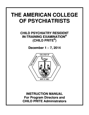Fillable Online acpsych THE AMERICAN COLLEGE OF