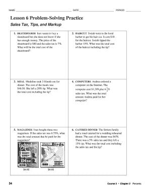 lesson 6 problem solving practice Fillable Online Lesson 6 Problem-Solving Practice - Weebly Fax Email ...