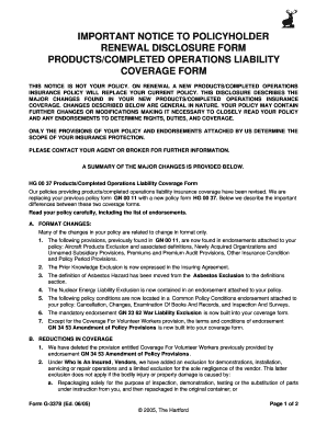 form operations coverage completed notice important liability pdffiller document forms