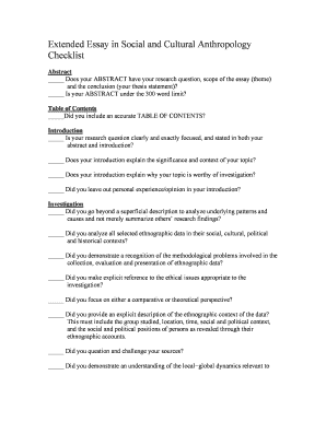 Fillable Online Rampart Asd20 Extended Essay In Social And Cultural