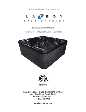 Fillable online for help call la z boy spas at 18004652933 fax fill online publicscrutiny Choice Image