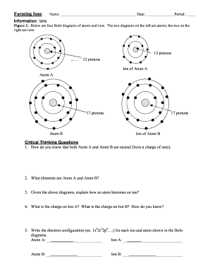 Predicting charges of ions worksheet