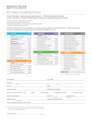 Fillable Online PC Perks Enrollment Form Fax Email Print - PDFfiller