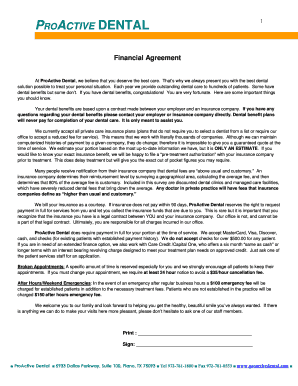 Submit Dental Payment Plan Agreement Template Form Samples In PDF