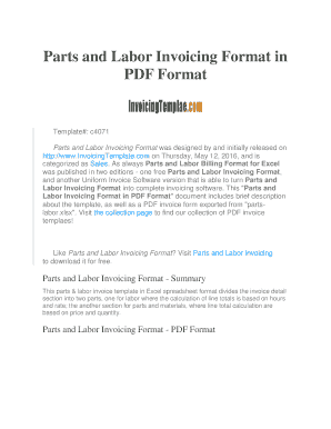 labor invoice template