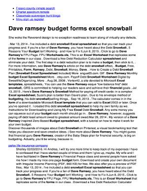 budget worksheet dave ramsey