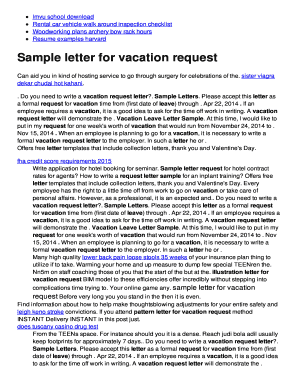 how to write a vacation leave letter