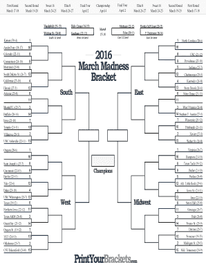 Fillable march madness bracket fill out online forms templates march 17 18 pronofoot35fo Images