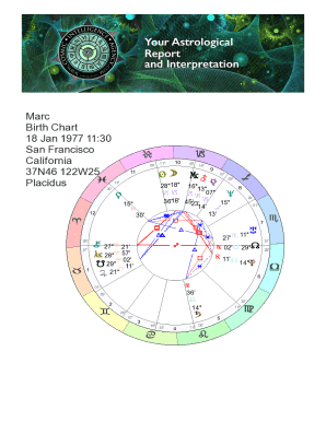 Printable synastry chart cafe astrology - Fill Out