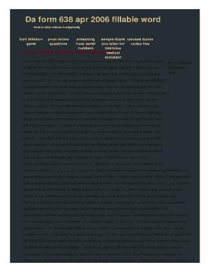da form 638 apr 2006 pdf Templates - Fillable & Printable Samples ...