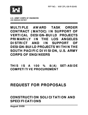 REQUEST FOR PROPOSALS - CJW Construction