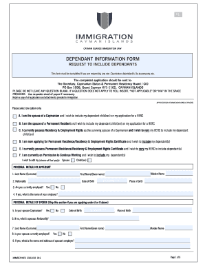 Island Cayman Immigration Form - Fill Online, Printable, Fillable ...
