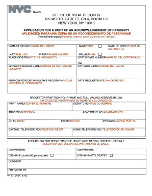 Paternity Form Ny - Fill Online, Printable, Fillable, Blank ...