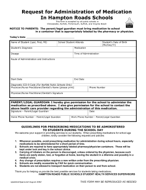 Medication Administration Permission Form - Fill Online, Printable ...