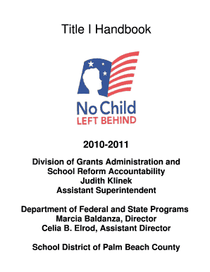 Title I Handbook - the School District of Palm Beach County - palmbeachschools