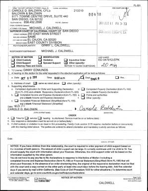 Fl 301 Quash Subpoena - Fill Online, Printable, Fillable
