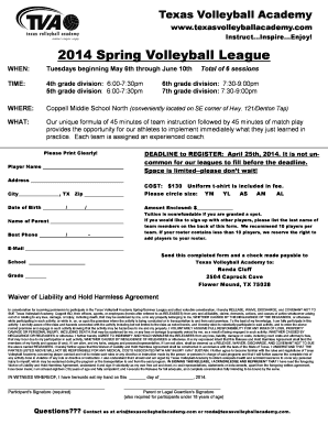 TVA Volleyball Info - nisdtx