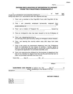 20 Printable sworn declaration template Forms - Fillable