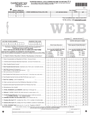 2015 Pa Berkheimer Tax Form - Fill Online, Printable, Fillable ...