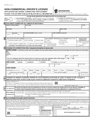 Pa Drivers License Application - Fill Online, Printable, Fillable ...