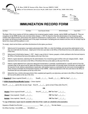 21 Printable Immunization Records San Antonio Forms And