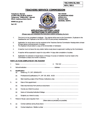 tsc sick leave form pdf