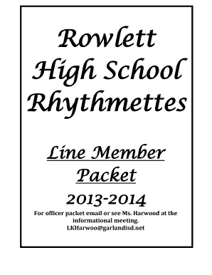 rhythmettes rowlett high school form