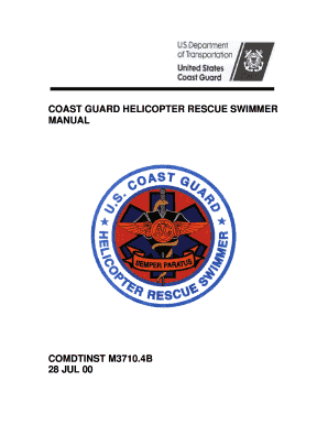 fillable online isddc dot coast guard helicopter rescue swimmer rh pdffiller com coast guard manual on line throwing coast guard manuals directives