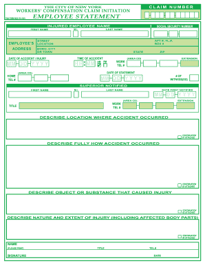 rate this form - Employee Statement Form