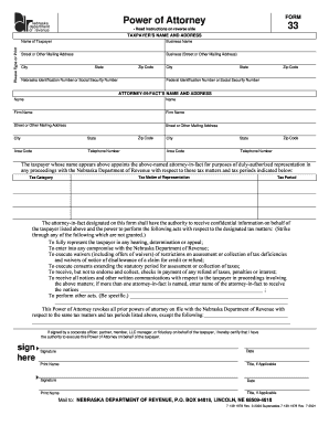 power of attorney form 33  Fillable Online Nebraska Fill-in Form 7 - State Legal Forms ...