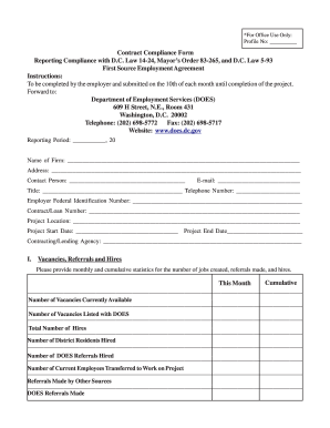 Employment Agreement Form