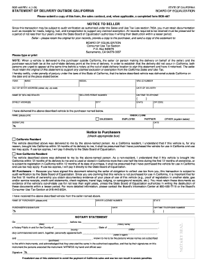 Form Boe 447 - Fill Online, Printable, Fillable, Blank | PDFfiller