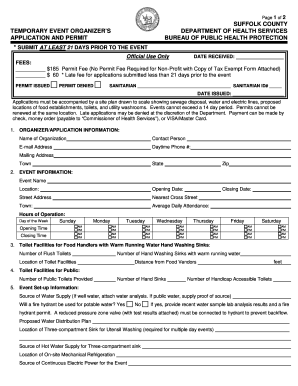 suffolk county ny temporary event permit