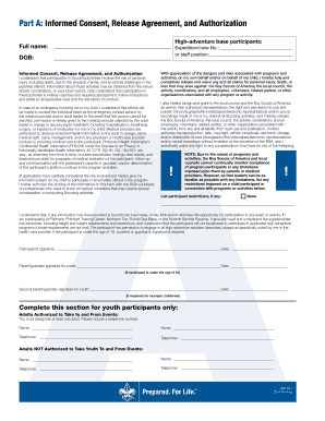 bsa medical form a b - Edit, Print, Fill Out & Download