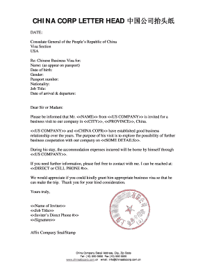 Business Invitation Letter To Visit Our Company