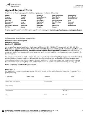 Healthcaregov Appeal Request Form - Fill Online, Printable ...