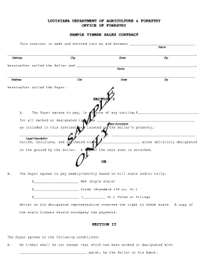 logging contract template - sales contract template forms fillable printable