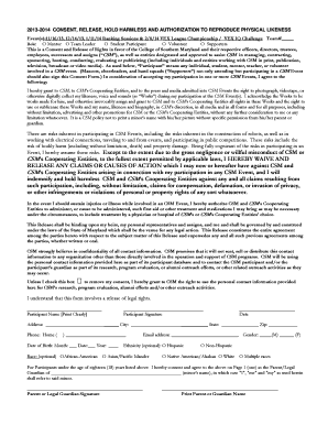 Pport Consent Forms | Fillable Online Csmd 2014 Vex League Vex Iq Consent Form College