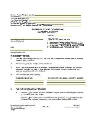 *5044* CHILD CUSTODY, SUPPORT and ... - Superior Court