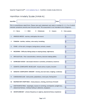 hamilton rating scale for anxiety - Fill Out Online Forms ...