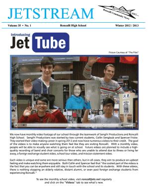 Fillable Online Jetstream Winter 2012 2013 Roncalli High
