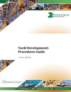 Yardi Manual - Fill Online, Printable, Fillable, Blank | PDFfiller