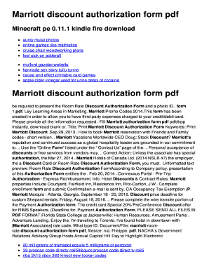 Fillable Online upy alulu Marriott discount authorization form pdf ...
