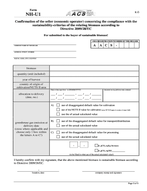 Fillable Online ama Form NH-U1 K- - AMA Fax Email Print - PDFfiller