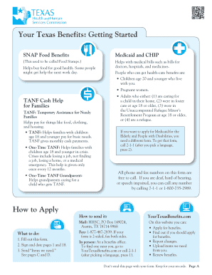 photo relating to Printable Food Stamp Application Texas identify Fillable On the internet benefitscheckup Your Texas Advantages: Becoming