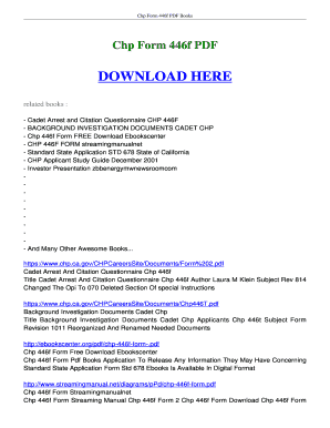 Fillable Online booksread Chp Form 446f FREE download- boksread ...